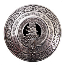 Clan Crest Belt Buckle - Round (Made by Gaelic Themes) BBCCLAN