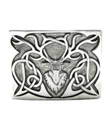 Stag Zoomorphic Belt Buckle - Polished - GMB26P