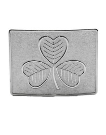 Shamrock Kilt Belt Buckle - Chrome