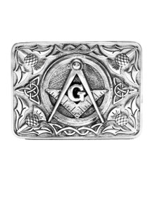 Masonic & Thistle Belt Buckle - KB11