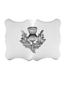 Traditional Thistle Kilt Belt Buckle - Antique