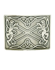 Highland Saltire Belt Buckle -  Antique