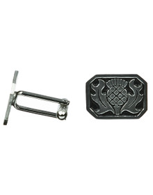 Thistle Cuff Links - Square - Polished