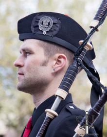 Black Glengarry Hat - By Robert Mackie