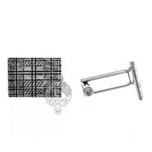 Tartan Cuff Links Pewter