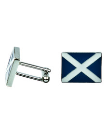 Scottish Flag Cuff Links - St. Andrew's with Enamel - KCL3