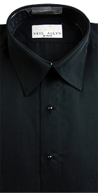 Black Lay Down Collar Shirt