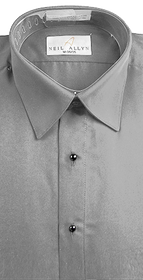 Grey Lay Down Collar Shirt