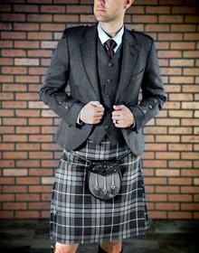 Grey Argyle Jacket 5 Button Vest Package