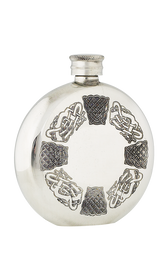 Celtic Pewter Flask Round  -  FL35
