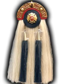 Horse Hair Fire Department Sporran - Gold Maltese