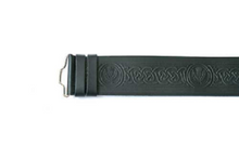 Kilt Belt - Thistle Embossed Velcro Adjustable
