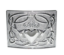 Irish Claddagh Kilt Belt Buckle - Polished - GMB27CP