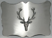Traditional Stag Kilt Belt Buckle - Antique