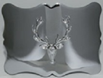 Traditional Stag Kilt Belt Buckle - Polished