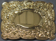Gilt Thistle Belt Buckle