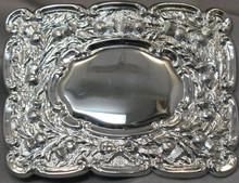 Chrome Thistle Belt Buckle
