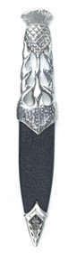 Ryan Thistle Polished Pewter Sgian Dubh - SD97