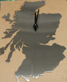 Scotland Clock - Brushed Stainless Steel