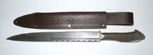 Damascus Steel Horn Handle Dirk - DIRK2