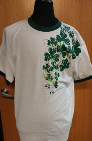 Shamrock T-Shirt - XL - White with Green