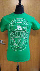 Ireland - Sworn to be Free T-Shirt - Small - Green