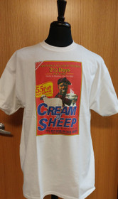 Cream of Sheep Scottish T-Shirt - Large - White