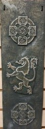 Cast Paper Celtic Cross and Lion Rampant Celtic Art by Cynthia L. Stephens