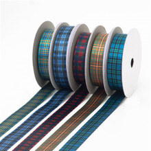 Sateen Tartan Ribbon - 1 Inch Wide by the Yard