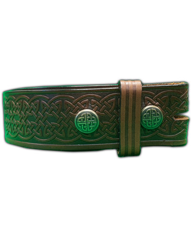 Celtic Leather Belt - Dark Brown Image