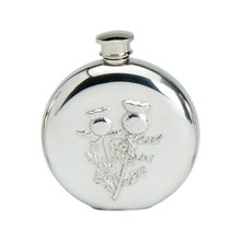 6 oz. Round Thistle Flask