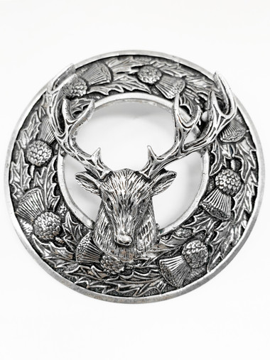 """Stag Brooch """"T.R"""" - KPS 6/8/05/10 image"""