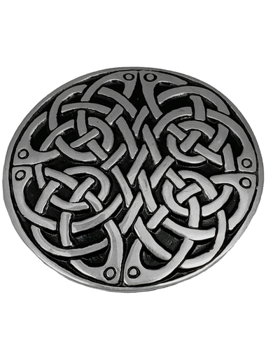 Never Ending Knotwork Round Trouser Buckle gmbs002 image
