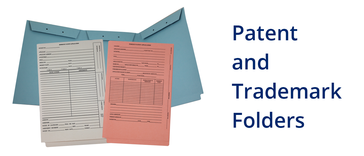 Patent and Trademark Folders