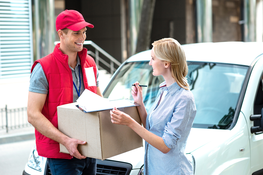 selecting a courier service