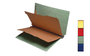 Brown Green 20pt. Pressboard Partition Folders