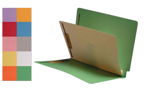 Economy Color Classification Folders (End Tab) - Manila Dividers