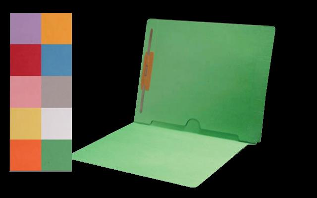 250 Carton Colored Pocket File Folders End Tab Beaglelegal Com
