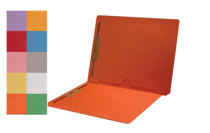 Colored Pocket File Folders - End Tab