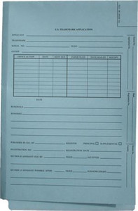Lt. Blue Domestic Trademark- End Tab - Shelf Filing,  no fasteners