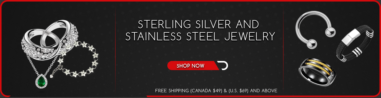 Sterling Silver and Stainless Steel Jewelry