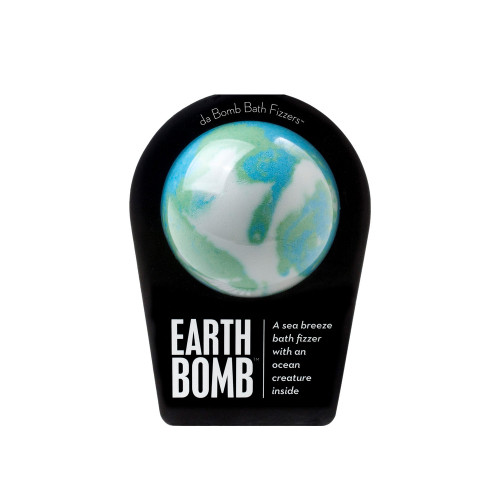 A sea breeze bath fizzer with a surprise inside  MONEY FROM THE SALE OF EVERY EARTH BOMB GOES TO ORGANIZATIONS THAT SAVE THE WORLD'S OCEANS.  Love water? So do we. Which is why some money from the sale of every Earth Bomb goes toward cleaning up the world's oceans. (As you get cleaner, the ocean does, too. Cool, huh?) Hold it in your hand as it dissolves, because there's a sea creature inside! Perfect for adults and kids alike. (Everybody loves surprises.)   Warning: Small parts. Not for children under 3.