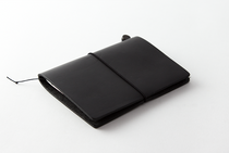 The Traveler's Notebook by Travelers Company   Leather Passport   Black