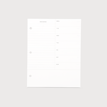 Binder Planner Inserts for the Appointed Binder Planner - Meal Planning Inserts 20pgs