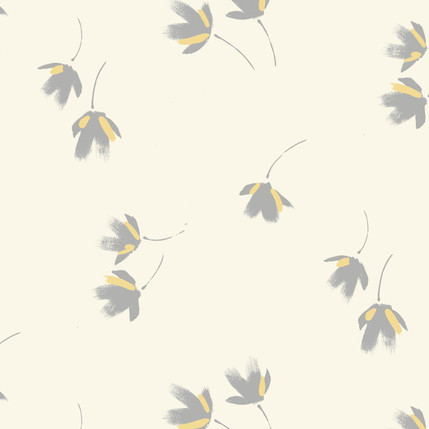 Flutter Abstract Floral Fabric Design