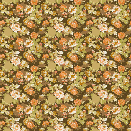Belinda Floral Fabric Design (Nutmeg)