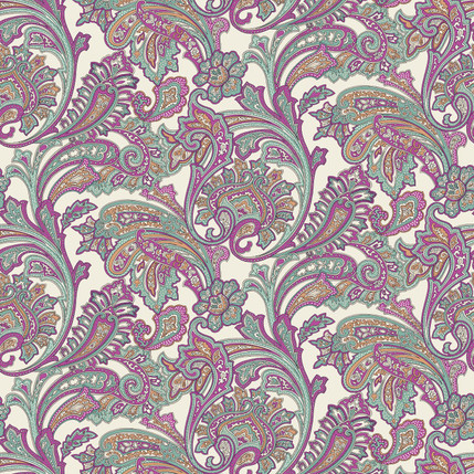 Paisley Fabric Design (Vineyard)