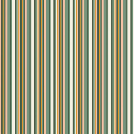 Line Up- Stripe Fabric Design Collection (Garden Color)