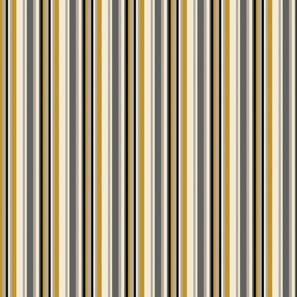 Line Up - Stripe Fabric Design Collection (Granite)