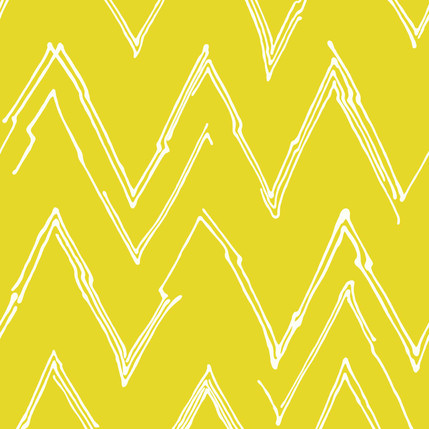 Peaks - Chevron Abstract Fabric Collection in Limon